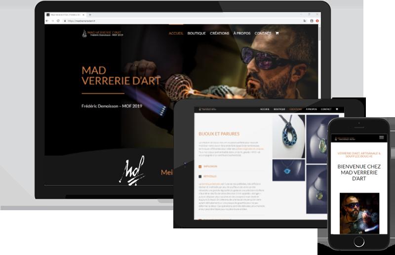 Nouveau Site Mad Verrerie D'art | Mobius Web