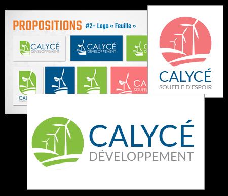 Nouveaux Logos Calycé | Mobius Web – Création de site Web et Agence digitale pour PME