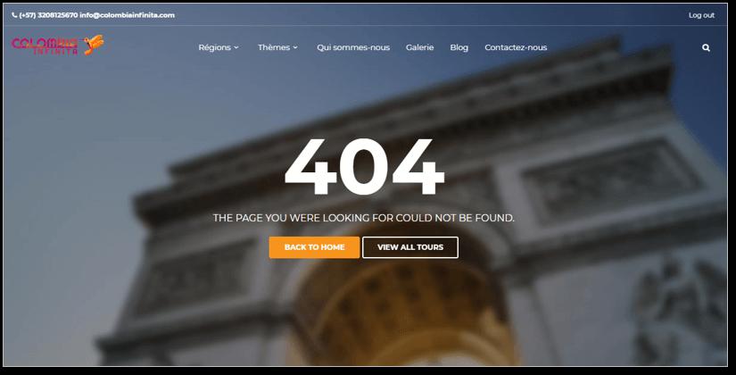 Ancien Site Colombia Infinita | Mobius Web – Création de site Web et Agence digitale pour PME