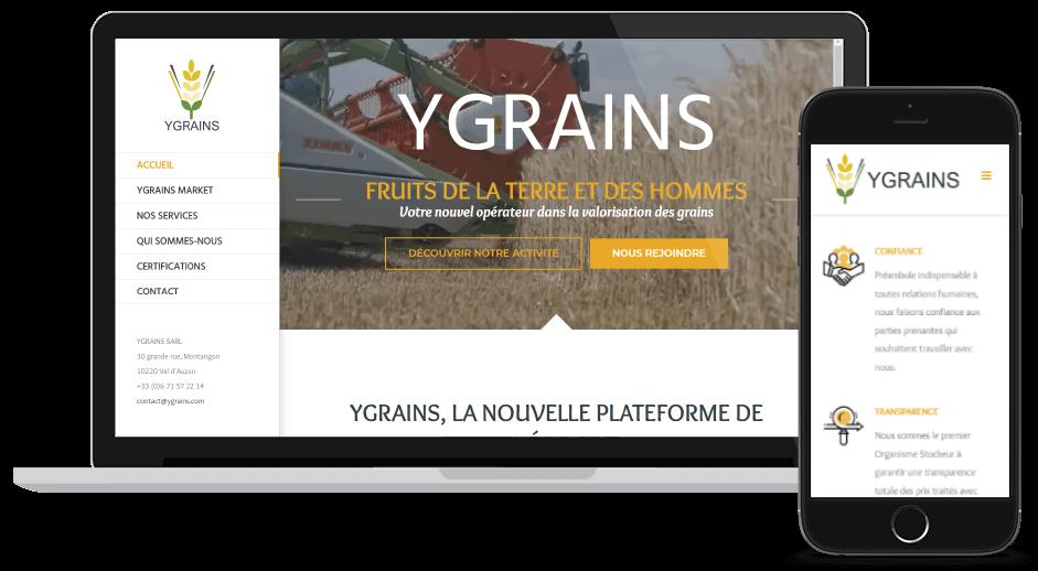 Nouveau site Ygrains