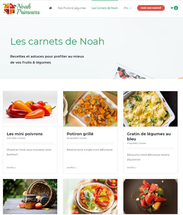 Les Carnets de Noah | Mobius Web – Création de site Web et Agence digitale pour PME