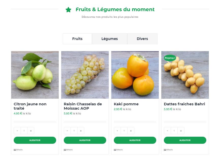 Page d'accueil Noah Primeurs | Mobius Web – Création de site Web et Agence digitale pour PME
