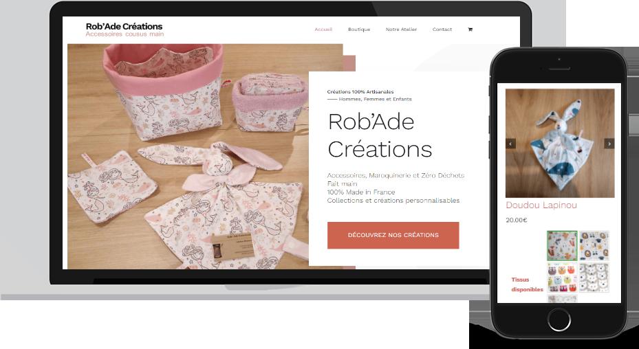 Nouveau site Rob'Ade Créations